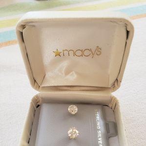 Macy's Diamond Earrings (real)